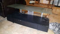Glass top TV stand with underneath storage Conway, 29526
