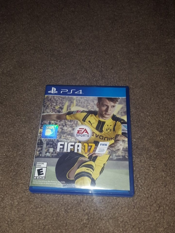 Sony PS4 Fifa 17 game case