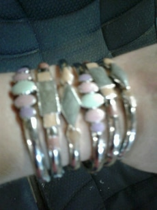 gold with assorted bracelets