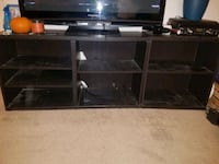 black wooden TV stand  Costa Mesa, 92626