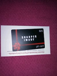 Sharpen Image Gift Card 25.00
