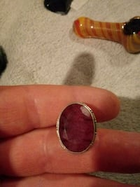 Natural Ruby silver ring size 7 three quarters Rochester, 98579