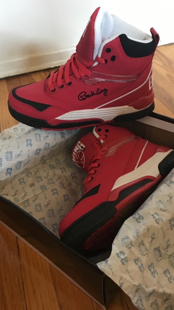 pretty nice c9687 09761 Used Red, Black and White Patrick Ewing shoes for sale in Brampton - letgo