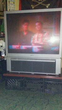 gray CRT TV with stand Nashville, 37210