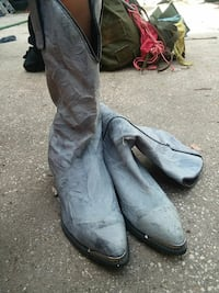 pair of gray leather cowboy boots Deltona, 32725