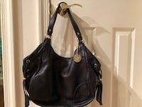 women's black leather shoulder bag Silver Spring, 20904