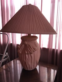 brown and white table lamp 134 mi