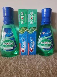 2 crest toothpaste and 2 crest mouthwash $10 firm Rockville