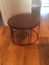 round brown wooden side table Quincy, 02171