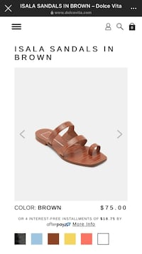 DOLCE VITA BROWN ISALA SANDALS Alexandria, 22310