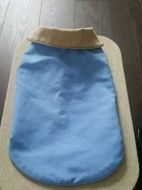 Beige and blue dog coat size S 521 km