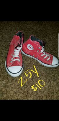pair of red Converse All Star high-top sneakers Lubbock, 79412