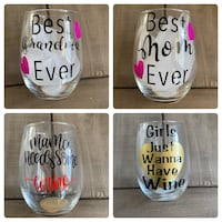 Wineglasses , mugs , candle holders , brush holders