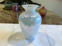 """White pearl bubble vase 8"""" tall West Islip, 11795"""