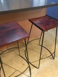 Reclaimed wood barstools (2) Austin, 78702