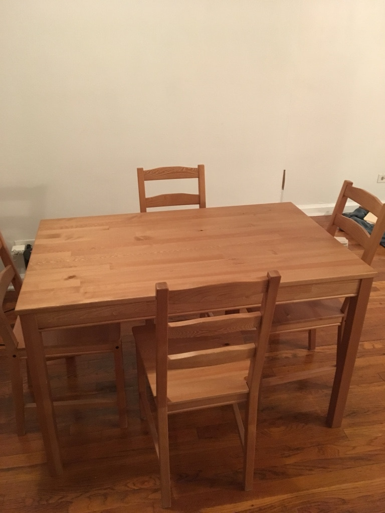 IKEA 4 Chair Dining Set