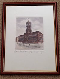 Framed Sketch of Berlin City Hall Arlington, 22209