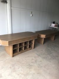 Two 6ft solid wood tables
