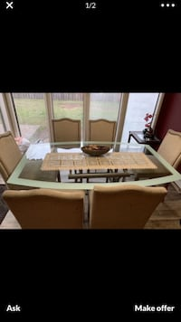 Glass top for table
