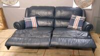 Leather double recliner sofa/delivery available