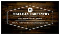 Roofing and Deck specialist. Custom Woodworking. Maxville