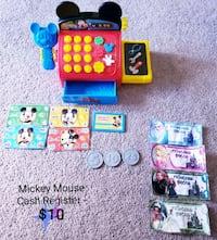 Mickey Mouse Cash Register with bonus money - $10 Toronto, M9B 6C4