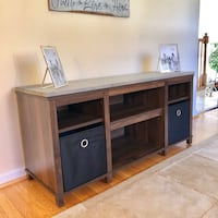 Pine 2-tone TV STAND (includes containers) Philadelphia, 19115
