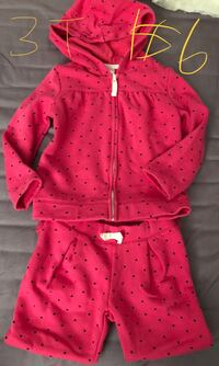 pink and white polka dot print button-up hoodie 蒙特婁, H3H