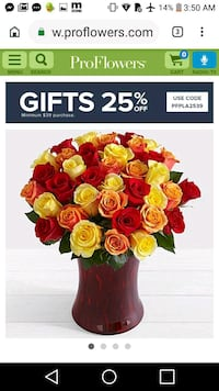 red and yellow rose flowers with good morning text overlay Houston, 77062