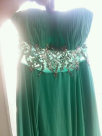 Mint peekaboo dress