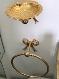 Gold Bathroom Soap and Towel Holder LONDON