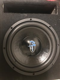 Black and gray menace audio subwoofer Rockville, 20853