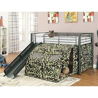Camouflage Loft Bed with Slide  **FREE DELIVERY **FINANCING AVAILABLE