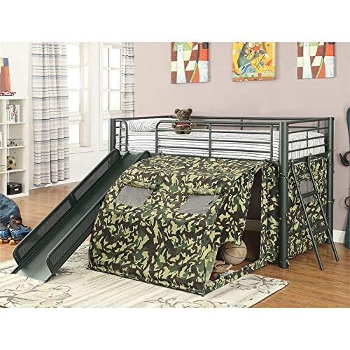 Camouflage Loft Bed with Slide  **FREE DELIVERY ** FINANCING AVAILABLE