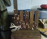 brown wooden wall decor