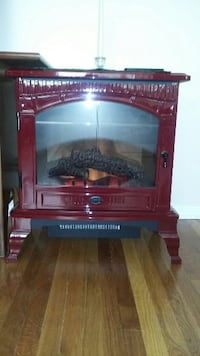 Cinnamon metal stove fireplace null