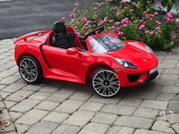 6 Volt Porsche 918 Ride On Toy, Battery-Powered Kid's Ride On Car