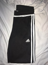 Medium adidas pants with zippers on ends of leg