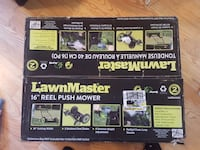 "16"" LawnMaster reel push mower box Ennismore, K0L 1T0"