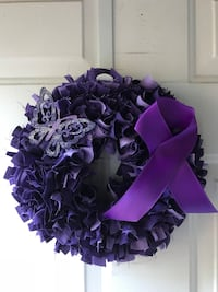 Custom Cancer Support/Awareness Rag Wreaths Londonderry, 03053