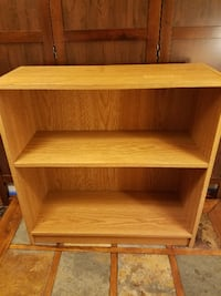 Wood Shoe / Book Shelf - 3 Tiers, closed back Council Bluffs