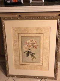 brown wooden framed painting of flowers Carson, 90747