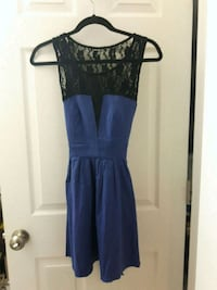 Blue dress with black lace top and back Toronto, M9C 4K9