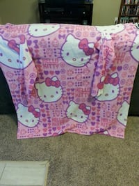 toddler's pink and purple Hello Kitty textile