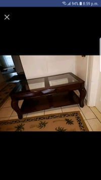 rectangular brown wooden coffee table Laval, H7R 5L6