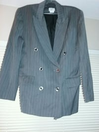 Giorgio double-breasted suit jacket grey p size 10 Carmichael, 95608