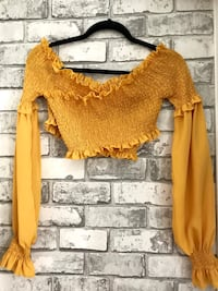 Yellow off shoulder blouse Toronto, M5A