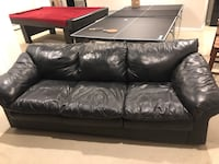Free pleather couch Mendon, 01756