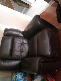 Brown leather recliner  TORONTO