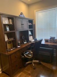 nice Office Desk with a built  in file cabinet and comes with a chair ! I Baltimore, 21224